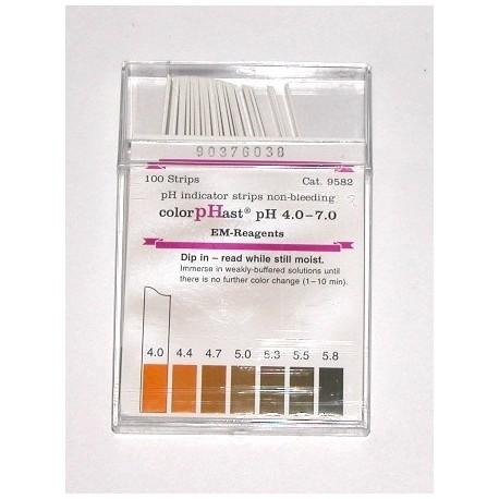 EMS pH Test Strips, 4 - 7